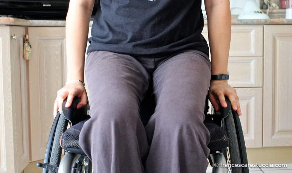 prova parafanghi sedia a rotelle