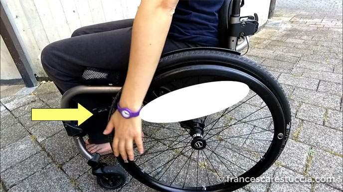 movimento ovale spinta sedia a rotelle