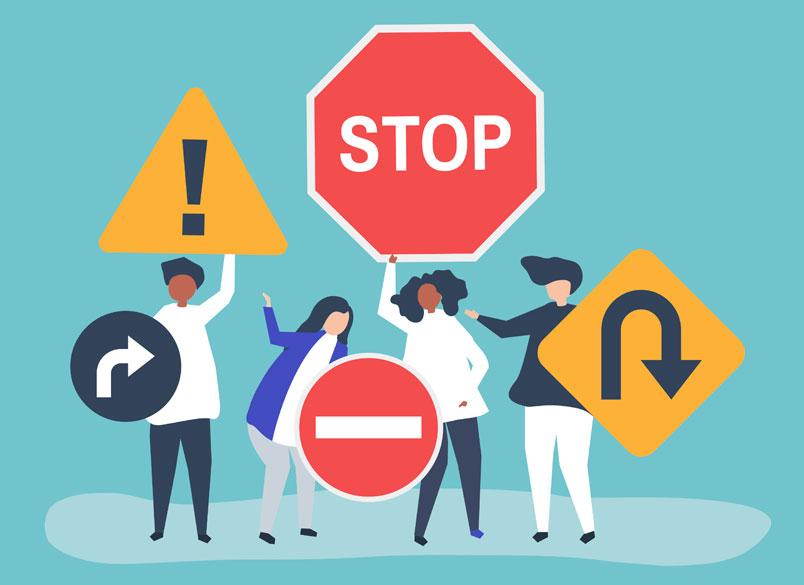 pericolo fermare carrozzina