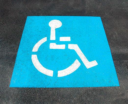simbolo parcheggio riservato disabili